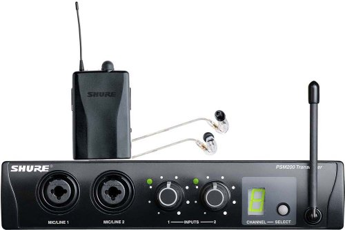 Shure Psm®200 Wireless Personal Monitoring System With Se215-Cl Earphones (Clear)