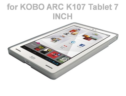 """Kobo Arc 7"""" eReader Tablet TPU Rubberized Protective Cover Case - Smoke at Electronic-Readers.com"""