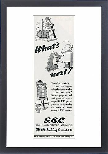 Framed Print Of Advert For The General Electric Company 1942