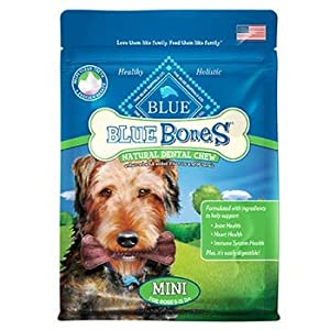 Blue Buffalo Mini Blue Bones Natural Dog Dental Chews, Pack of 31 chews - 12 oz.