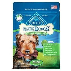 Blue Buffalo Mini Blue Bones Natural Dog Dental Chews, Pack of 31 chews - 12 oz.