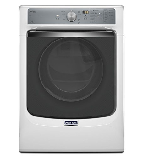 Maytag Med8100Dw Maxima 7.4 Cu. Ft. White Stackable With Steam Cycle Electric Dryer