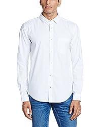 Basics Men's Casual Shirt (8907554066488_16BSH34251_Small_White)