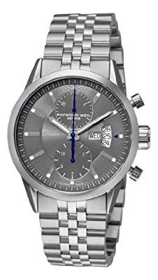 Raymond Weil Men's 7735-ST-60001 Freelancer Grey Chronograph Dial Watch