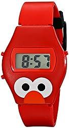 Sesame Street Kids' SW630EL Talking Elmo Digital Display Red Watch
