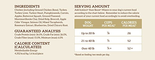 Nature's Variety Instinct Raw Boost Mixer Chicken Formula Freeze Dried Meal Topper for Dogs, 14 oz. Bag_Image3