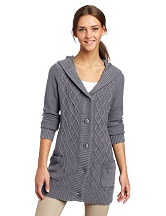 Volcom Juniors Lust and Found Cardigan, Grey Vintage, X-Large