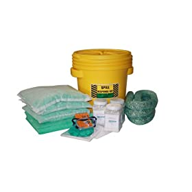 Spill Control 26-SCI-NK20-DM 60 Piece Labpack Battery Acid/Neutralizing Hazmat Spill Kit, 14 Gallons Capacity