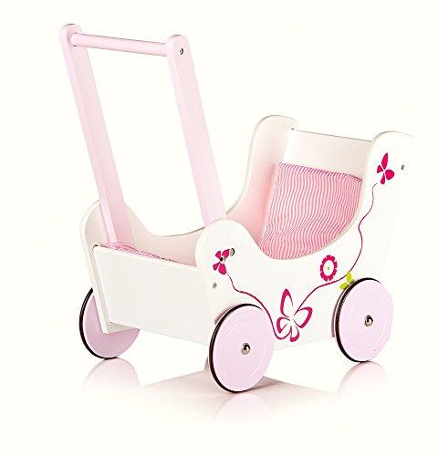 Lauflernwagen Holz Puppenwagen ~ Lauflernwagen aus Holz Puppenwagen inkl Bettwsche Schmetterling