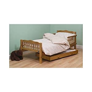 Saplings Pine Junior / Toddler Bed Antique Finish with Spring Mattress