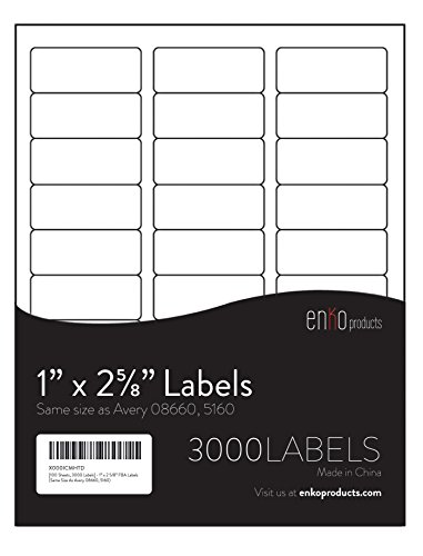 5160 label size