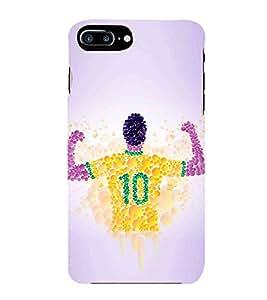 HiFi Designer Phone Back Case Cover Apple iPhone 7 Plus :: Apple iPhone 7+ ( Football Art Ball Craze Fan Made Art Brazil )