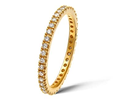 Ariel 9ct Yellow Gold 0.36ct Diamond Full Eternity Ring
