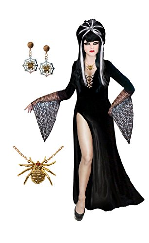 [Sanctuarie Designs Dark Mistress Plus Size Supersize Halloween Costume Basic Kit (LG)] (Halloween Costumes Elvira)