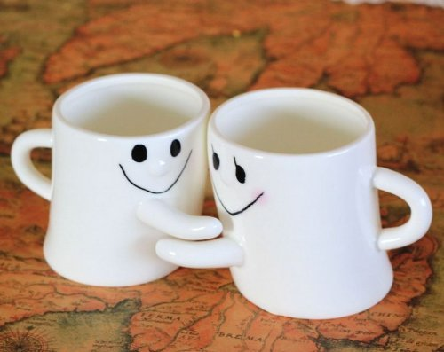 City Block Adorable Couple Milk and Coffee Mug Great Gift for Love (New Version B)
