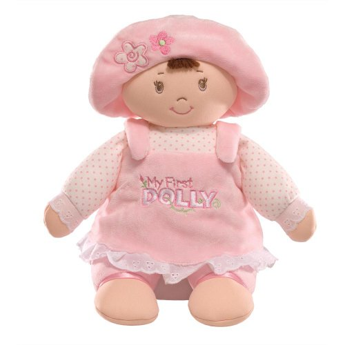Gund 30cm My First Dolly Brunette Soft Toy for Newborn and Above