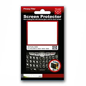 Green Onions Supply RT-SPBB03 2-Inch x 1 1/2-Inch Privacy Filter for BlackBerry 8820/8830/8800 -1 Piece per Pack (Transparent)