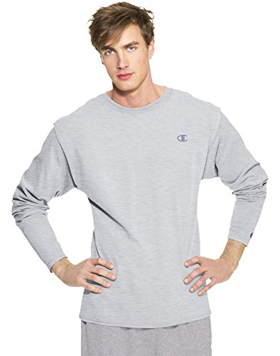 Champion Men's Long Sleeve T-Shirt, Oxford Gray, Large (Champions Clothing Men compare prices)