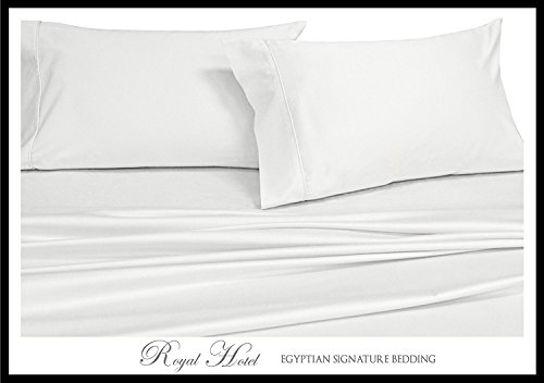 Split-King: Adjustable King Bed Sheets 5PC Solid White 100% Cotton 600-Thread-Count, Deep Pocket (King Bed Hotel Sheets compare prices)