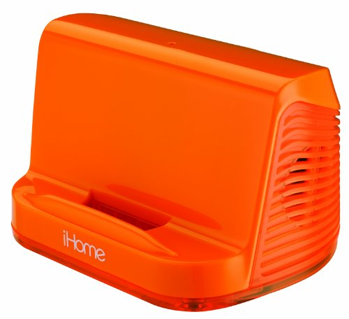 Ihome Portable Stereo Speaker System For Ipad/Ipod/Mp3 Players (Orange Neon)