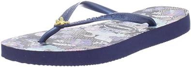 Amazon.com: Havaianas Women's Slim Orient Flip Flop, Navy Blue, 41/42