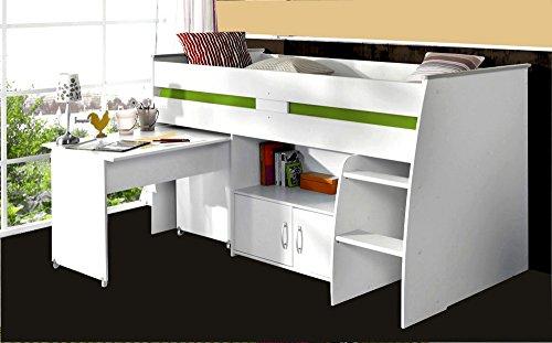 PARISOT-Kinderbett-Hochbett-Reverse-mit-Schreibtisch-wei