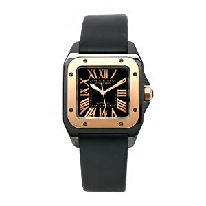Cartier Men's W2020007 Santos 18k gold Watch by Cartier
