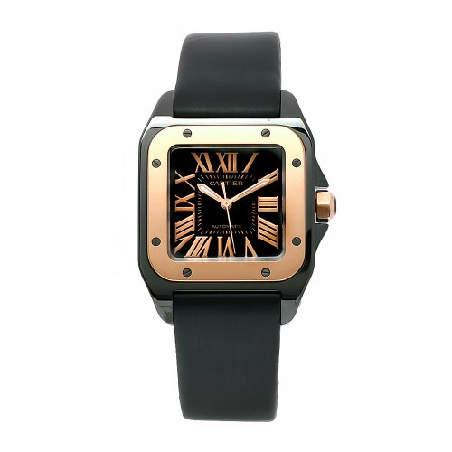 Cartier Men's W2020007 Santos 18k gold Watch