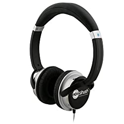 NoiseHush NX26 3.5mm Stereo Headphones with In-Line Mic - Black - Retail