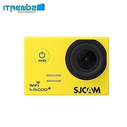 Video Camcorder, Itrendz Yellow Sj5000 Plus Wifi Sports Action Camera Sjcam Sj5000+ Water Resistant Helmet Head Video Camcorder