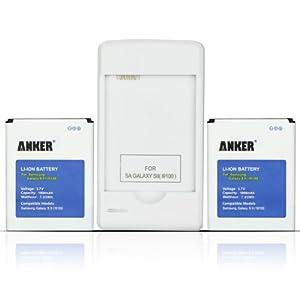 Anker® 2x1900mAh Batterie Li-ion pour Samsung Galaxy S2 II GT-I9100, Galaxy S2 II I9100, Galaxy S2 II 9100, EB-F1A2GBU + Chargeur