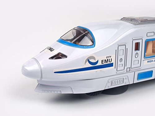 ToyThrill Trailblazer Electric Train Car Toy with Automatic Sensor (Flashing Star Lights) (Toy Bullet Train compare prices)