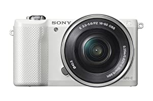 Sony Alpha a5000 20.1 MP Interchangeable Lens Camera with 16-50mm OSS Lens (White)