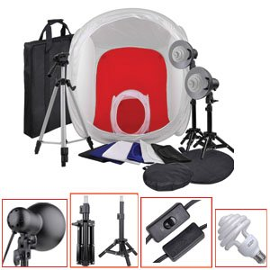 =>  New Photo Studio Tent Cube In Light Box Professional Tripod Kit