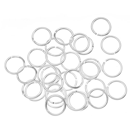 Beadaholique 100-Piece Open Jump Rings, 8mm, Silver (Open Jump Rings compare prices)