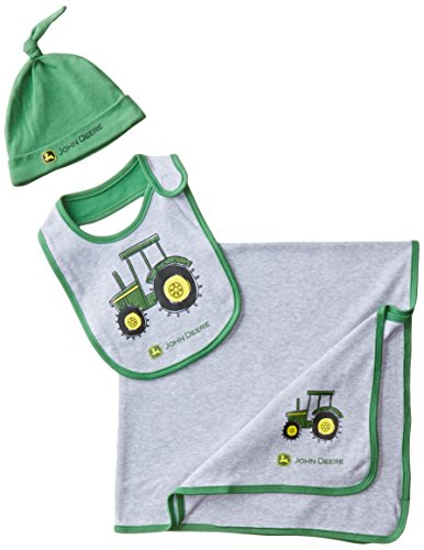 John Deere Baby-Boys Newborn Tractor Layette Set, Heather Grey/Green, One Size