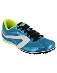 KALENJI CHILDREN'S ATHLETICS TRAINERS WITH SPIKES - BLUE YELLOW
