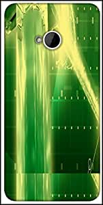Snoogg Green Crystal In The Grid 2638 Designer Protective Back Case Cover For HTC M7