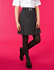 Buckle Detail Pleated Skirt with Stormwear™