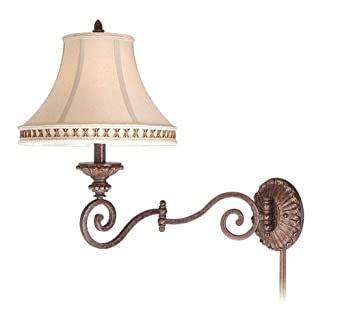Vaxcel Lighting DY-WLS130FP Dynasty 1 Light Swing Arm Wall Sconce, Forum Patina