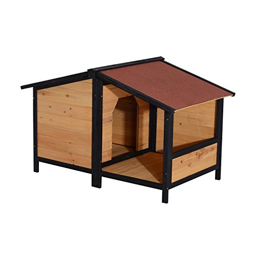 Pawhut Medium Elevated Dog House with Opening Roof (Elevated Dog House compare prices)