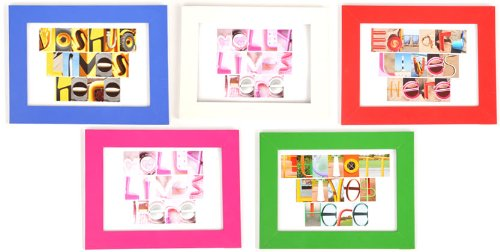 Personalized Door Plaque Multi Coloured Frames