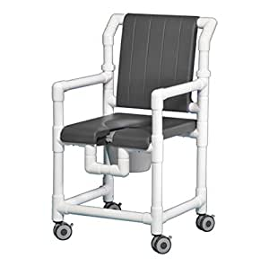 open front seat deluxe pvc rolling shower