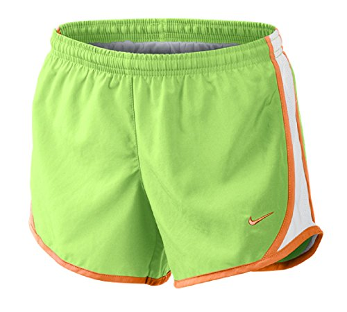 Girls Tempo Running Shorts, Ghost Gren/Bright Citrus, XL