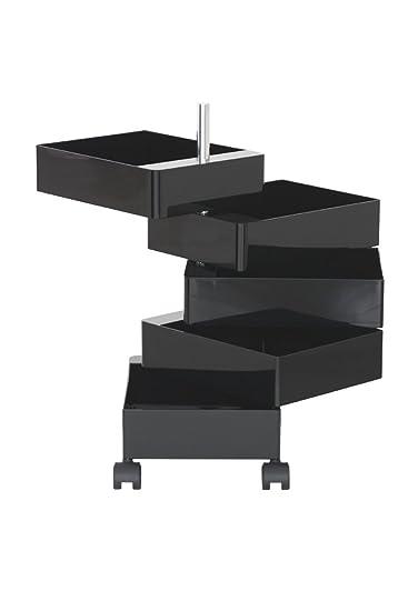 Magis ABS, 360°, con 5 cassetti, scatola da ufficio, colore: nero