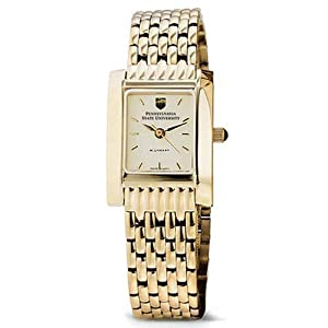 Pennsylvania State University Ladies Swiss Watch - Gold Quad by M.LaHart & Co.
