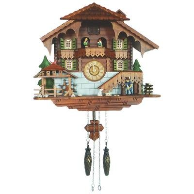 Kassel Large Cuckoo Clock with Multiple Moving Facets