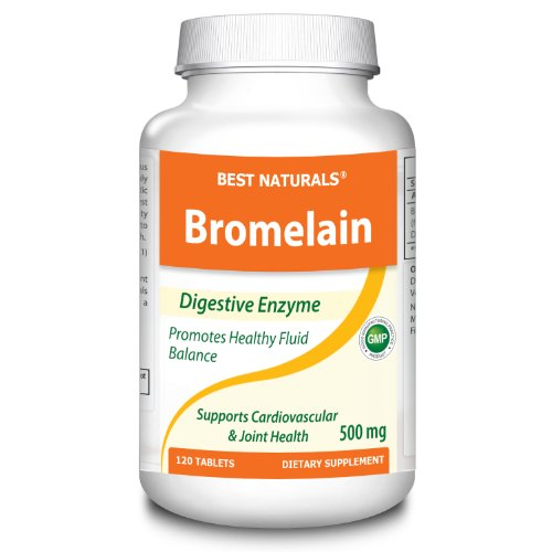#1 Bromelain 500Mg 120 Tablets By Best Naturals - Natural Proteolytic Enzyme - Manufactured In A Usa Based Gmp Certified Facility And Third Party Tested For Purity. Guaranteed!!