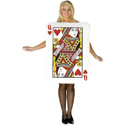 Rasta Imposta Womens Queen Of Hearts Deluxe Playing Card Adult Costume