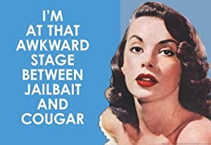that Awkward Stage between Jailbait and Cougar Funny Art Poster Print